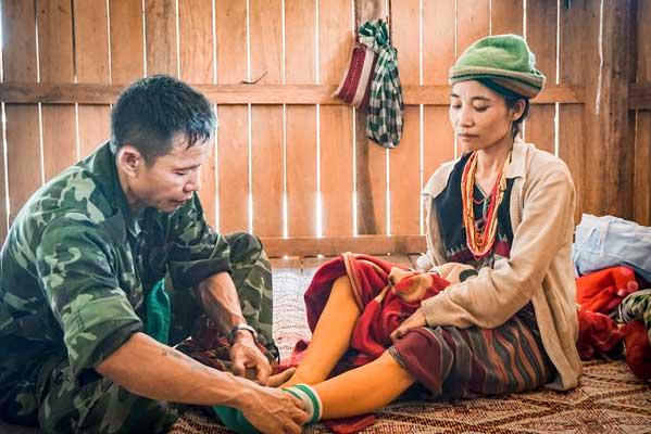 Naw Mu Dee being treated at the Rain Tree Clinic